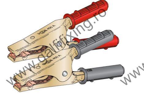 Akkumulátor csipesz, kábel nélkül, 400 A, 10-30 mm2, készlet/csomag