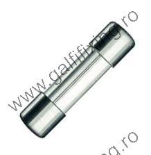 Üveg biztosíték, 5x20 mm, 12-24 V,  4 A, 10 db/csomag