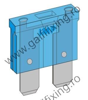 Villásbiztosíték IMP Italia, 10 A, 25 db/csomag