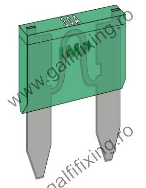 Micro villásbiztosíték IMP Italia, 10 A, 25 db/csomag