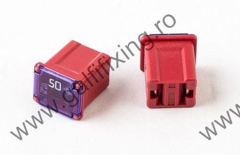 Mini főbiztosíték műanyag házban, rövid (I), 50 A, 2 db/csomag