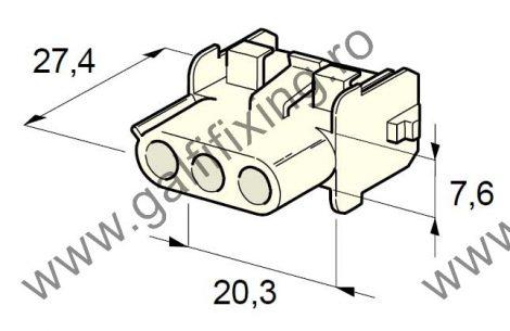 Műanyag csatlakozóház III., 2mm-s hengeres dugóhoz (160000), 2 db/csomag