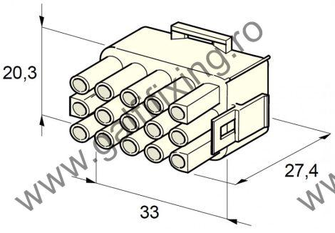 Műanyag csatlakozóház XV., 2mm-s hengeres hüvelyhez (160001), 2 db/csomag