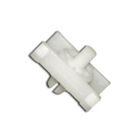 Díszlécrögzítő patent 21x28x8x6,7 fehér, 10 db/csomag BMW Mini