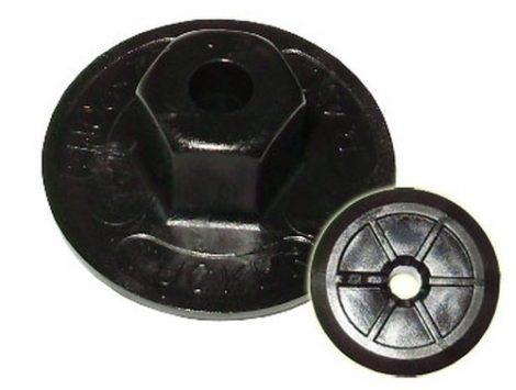 Kerékjárati dobbetét rögzítő patent 24x5 fekete, 10 db/csomag BMW Volkswagen Seat Audi Skoda Mercedes Benz Peugeot Citroen