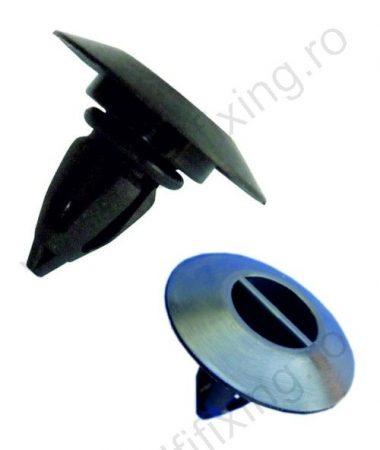 Küszöbdíszléc rögzítő patent 25x20,3 fekete, 10 db/csomag, BMW Mini