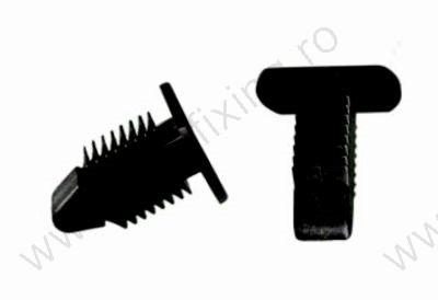 Küszöbdíszléc rögzítő patent 14x8,6x14,4x5 fekete, 10 db/csomag, BMW Mini