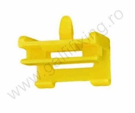 Küszöbdíszléc rögzítő patent 24x3,9x5,9 sárga, 10 db/csomag, BMW