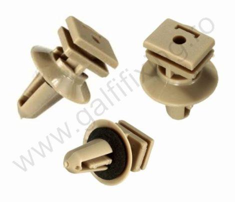 Belső küszöbdíszléc rögzítő patent 11x15x17,7x10,8 barna, 10 db/csomag, BMW
