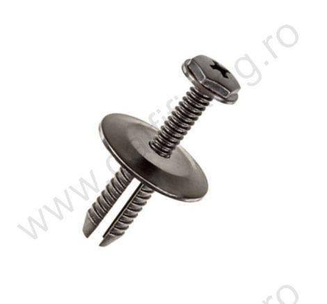 Küszöbdíszléc rögzítő patent 9,9x17x6x6,5 fekete, 10 db/csomag, BMW