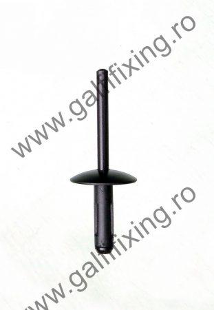 Sárvédő díszléc rögzítő patent, szegecs 19,8*5,7*21,7, fekete, BMW, 10 db/csomag