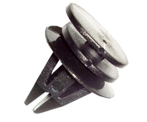 Küszöbdíszléc rögzítő patent 15,9x20x9x11x19 fekete, 10 db/csomag BMW Mini