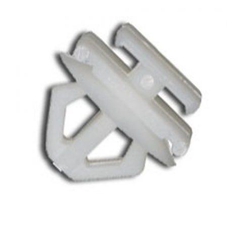 Oldaldíszléc rögzítő patent 10x8x8x8,7 fehér, 10 db/csomag Citroen Peugeot