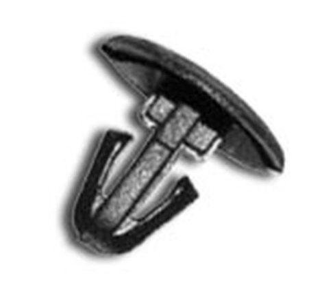 Ajtótömítő gumi rögzítő patent 12x5x10 fekete, 10 db/csomag Fiat Lancia Peugeot Citroen Volvo