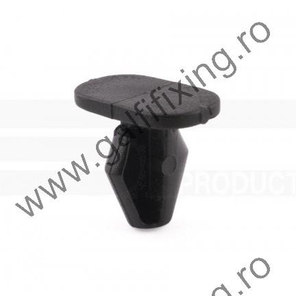 Ajtótömítő gumi rögzítő patent, 20*7*7,9*9,5, fekete, PSA, Peugeot, Citroen, 10 db/csomag
