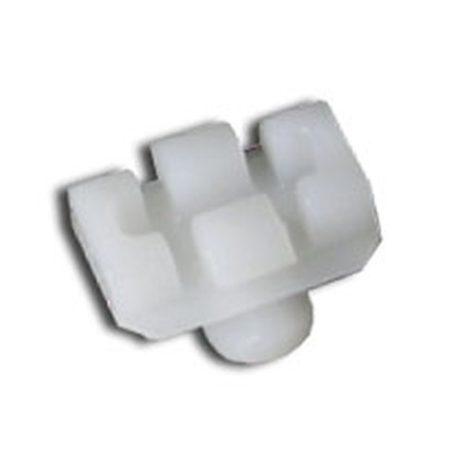 Szélvédő vízvezetődíszléc rögzítő patent 8x10x4x9 fehér, 5 db/csomag Ford