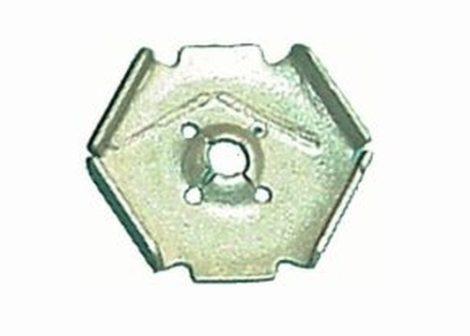 Kerékjárati dobbetét rögzítő patent 22,8x24x4,2 ezüst, 10 db/csomag Ford