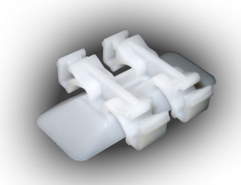 Díszlécrögzítő patent 32x48 fehér, 10 db/csomag Mercedes Benz