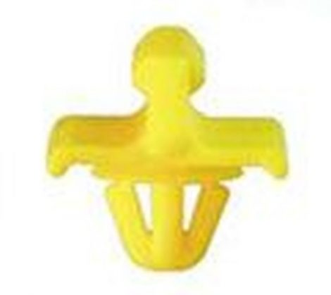Oldaldíszléc rögzítő patent - hátsó sárvédő 15,6x7x7,3 sárga (kiegészítve 185046), 10 db/csomag Mercedes Benz