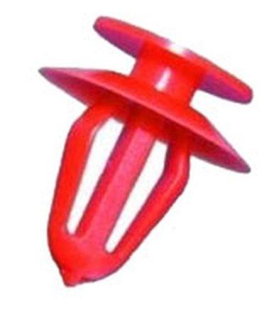 Ajtókárpit rögzítő patent 13x8x14,8 piros, 10 db/csomag Ford Opel