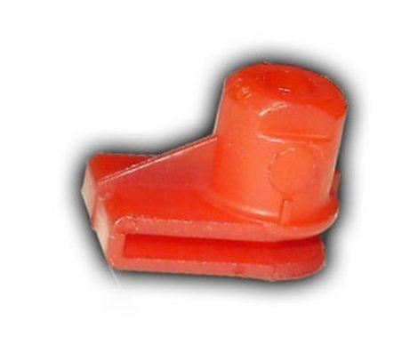 Lökhárító, kerékjárati dobbetét rögzítő műanyag lemezanya 12x20x4,8 piros, 10 db/csomag Opel GM Daewoo Chevrolet BMW