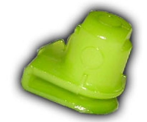 Lökhárító rögzítő műanyag lemezanya 12x16x4,8 zöld, 10 db/csomag Opel GM