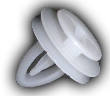 Ajtókárpit rögzítő patent 10,8x6x10,2 fehér, 25 db/csomag Opel GM Daewoo Chevrolet