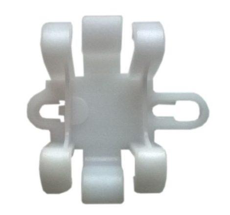 Küszöbdíszléc rögzítő patent 47,8x44,5 fehér, 5 db/csomag Opel GM