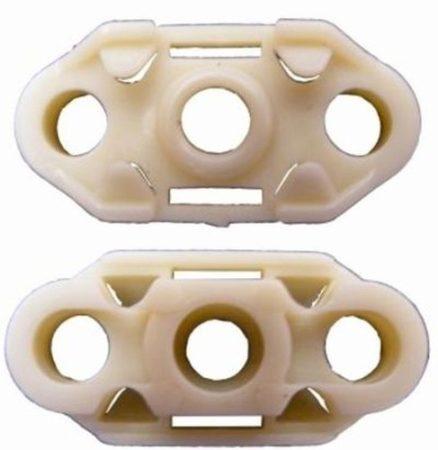Ajtóüveg rögzítő patent balos+jobbos 35,8x17 krém Opel GM