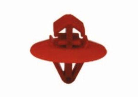 Díszlécrögzítő patent 8x7,8x8,7x8,7 piros, 25 db/csomag Opel Renault
