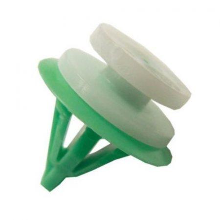 Kárpitrögzítő patent 10,5x8x10,5 fehér+zöld, 10 db/csomag Renault, Dacia