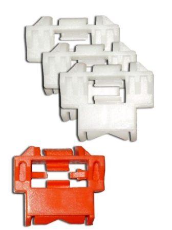 Díszlécrögzítő patent készlet 29x33 fehér+piros (4 db/készlet) Renault