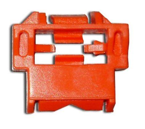 Díszlécrögzítő patent 29x33 piros, 5 db/csomag Renault