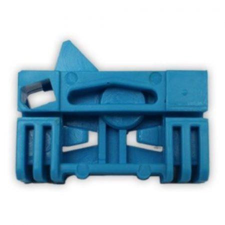Első ajtóüveg rögzítő patent jobbos 43,8x26x9,3 kék Citroen Peugeot Renault