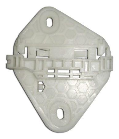 Ajtóüveg rögzítő patent jobbos 122x99 fehér Renault Dacia