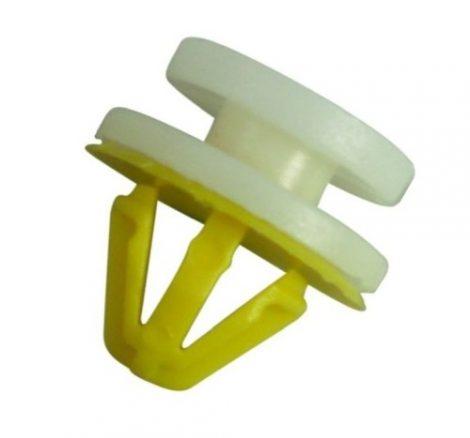 Ajtókárpit rögzítő patent 12,5x8,5x8 fehér-sárga, 10 db/csomag Opel Renault Rover