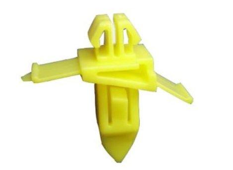 Díszlécrögzítő patent 8,7x7,4x8,5x7,4x18,6 sárga, 10 db/csomag Toyota