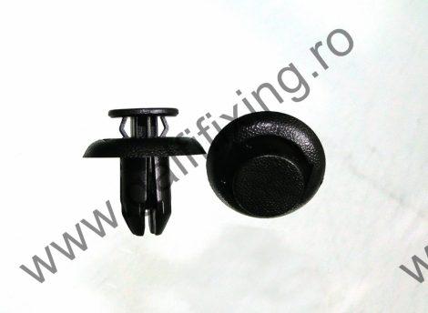 Kerékjárati dobbetét (hátsó) rögzítő patent, fekete, 11,3*8*13,5, Toyota, Mazda, 10 db/csomag