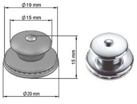 Ponyva rögzítő elem 15x20x10 nikkelezett, 5 db/csomag Suzuki