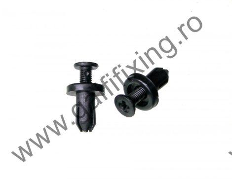 Hűtőrács rögzítő patent, fekete, 6,4*4,9*9,8, Mazda, 10 db/csomag