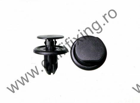 Kerékjárati dobbetét rögzítő patent, fekete, 15,5*7,8*14, Mazda, 10 db/csomag