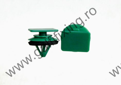 Küszöbdíszléc rögzítő patent, zöld, 18,3*11,7*12,3, Mazda, 10 db/csomag