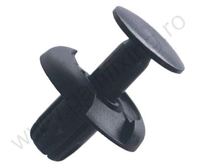 Kerékjárati dobbetét rögzítő patent 20x8x10 fekete, 10 db/csomag, Honda, Ford, Mitsubishi, Toyota