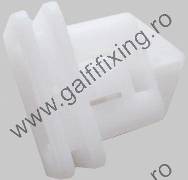Küszöbdíszléc rögzítő patent, fehér, 14,3*5,8*10,6*17,8, Volvo, 10 db/csomag