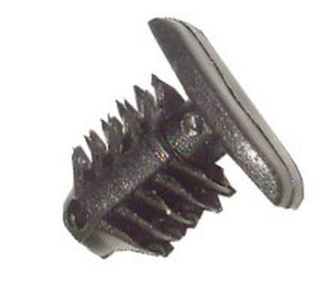 Ajtótömítő gumi rögzítő patent 13,3x4,6x6x10,7 fekete, 10 db/csomag Hyundai KIA