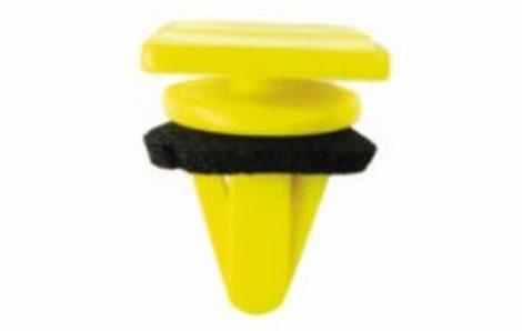 Oldaldíszléc rögzítő patent 15,8x19x10x15,5 sárga, 10 db/csomag Hyundai