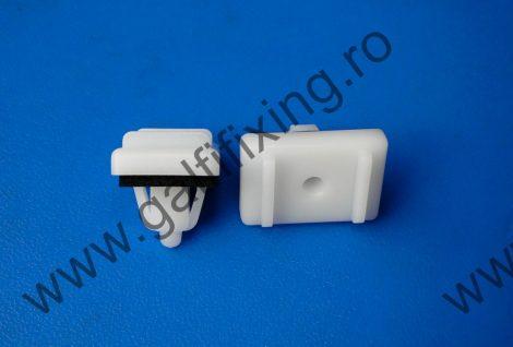 Küszöbdíszléc rögzítő patent, fehér, 24,4*16,9*12,3*3,4*13,9, Hyundai, Kia, 10 db/csomag