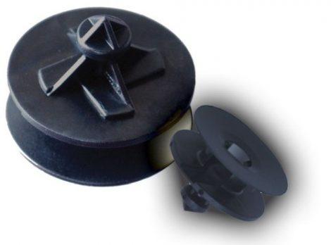 Ajtókárpit rögzítő patent 28x8x12 fekete, 10 db/csomag Volkswagen Seat Audi Skoda
