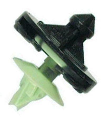 Ajtókárpit rögzítő patent 28,5x8x11 fekete-zöld, 10 db/csomag