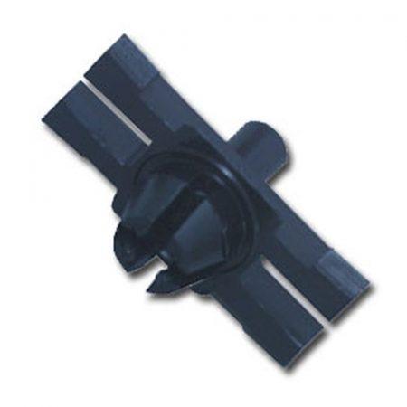 Díszlécrögzítő patent 9,3x18x6x4,9 fekete, 25 db/csomag BMW Mini Volkswagen Seat Audi Skoda
